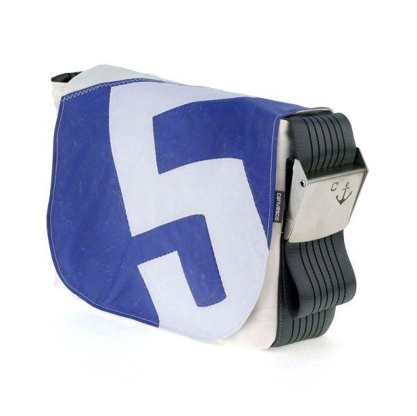 Canvasco Urban Bag Canvas S - Blue white 5