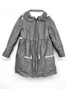 Ruffle flak coat