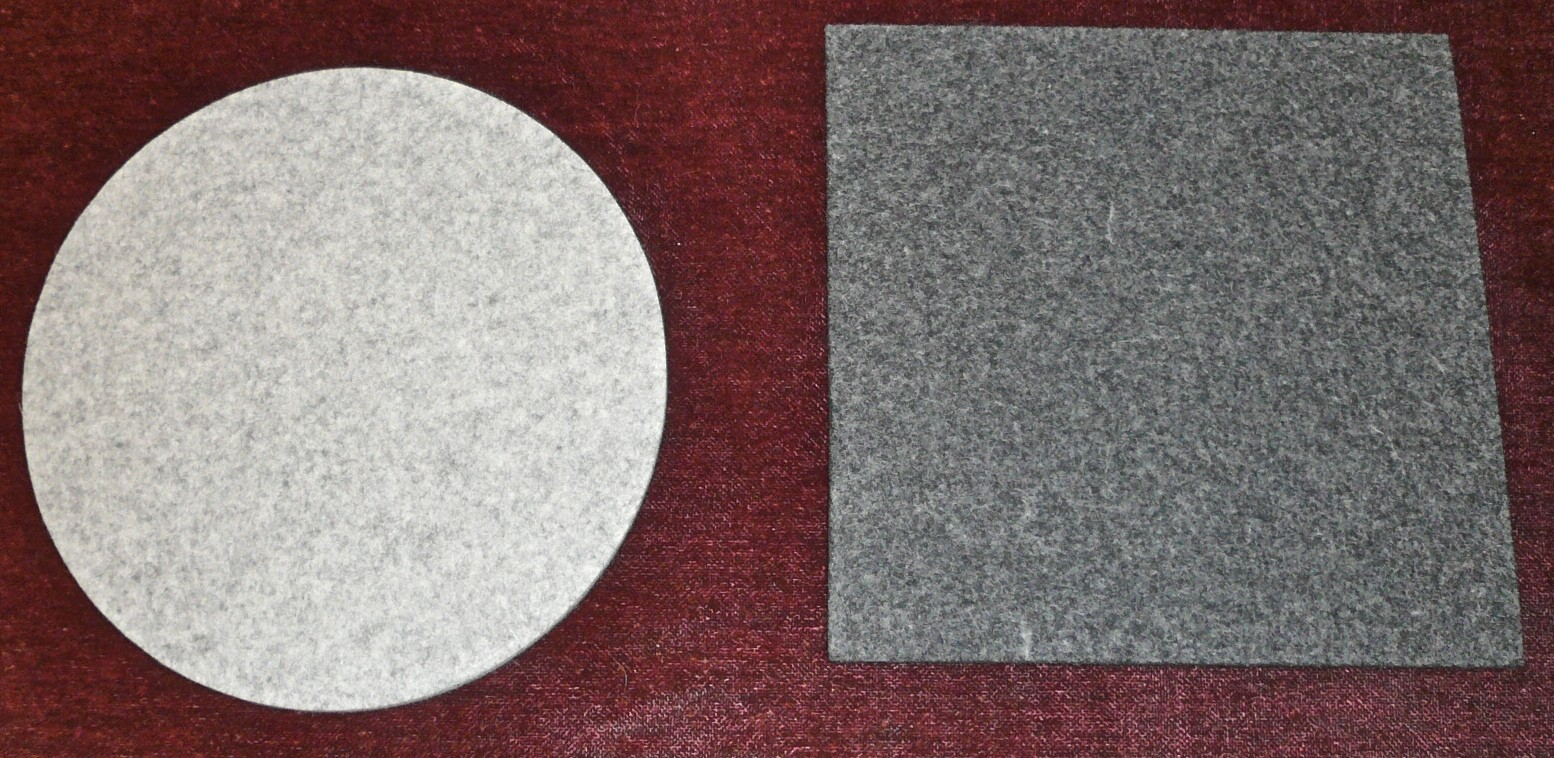 daff felt coaster - round and square (large)