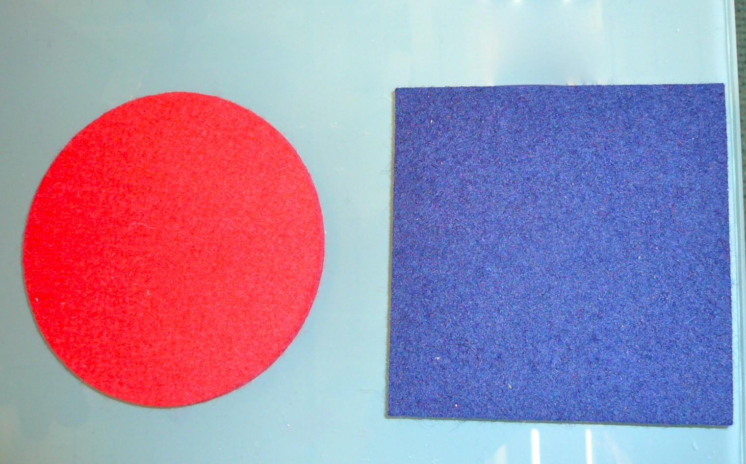 daff felt coaster small – square and round 4x4/ ø4""