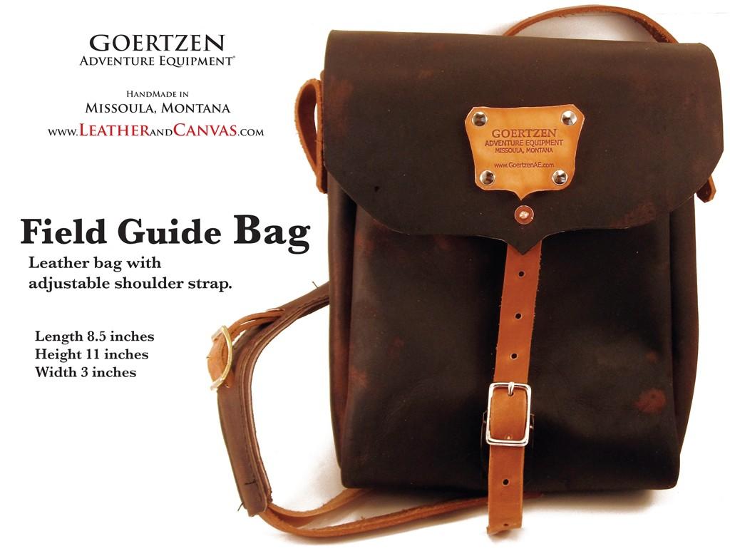 GOERTZEN EQUIPMENT:   Field Guid Bag