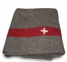 swiss army blanket with swiss cross
