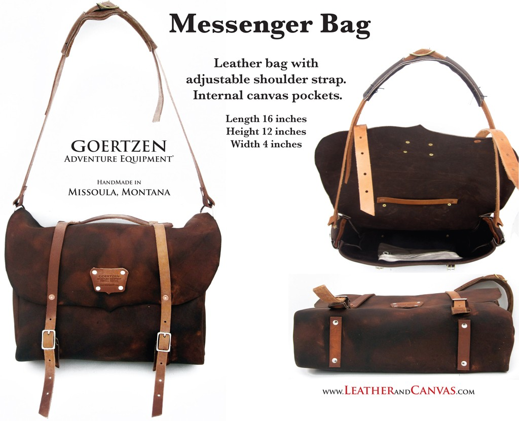 GOERTZEN EQUIPMENT:  Messenger Bag