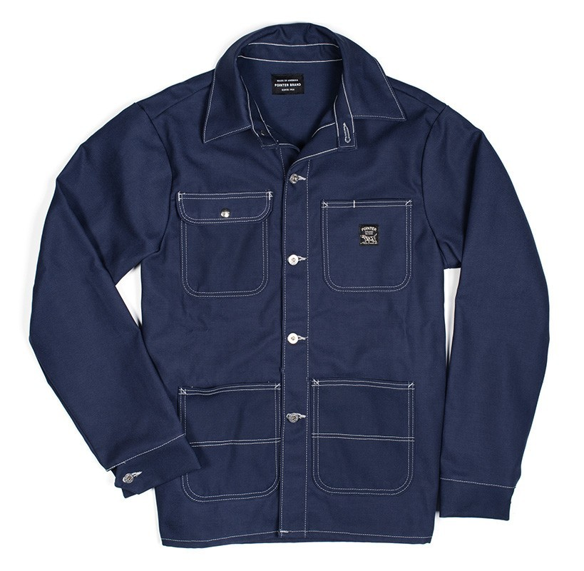 Pointer Brand -  Chore Coat - Indigo Blue Denim LOT 45