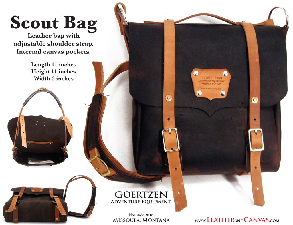 GOERTZEN EQUIPMENT:  Scout Bag