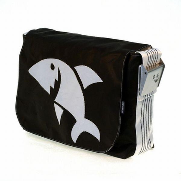 Urban Bag Canvas L, White Shark,