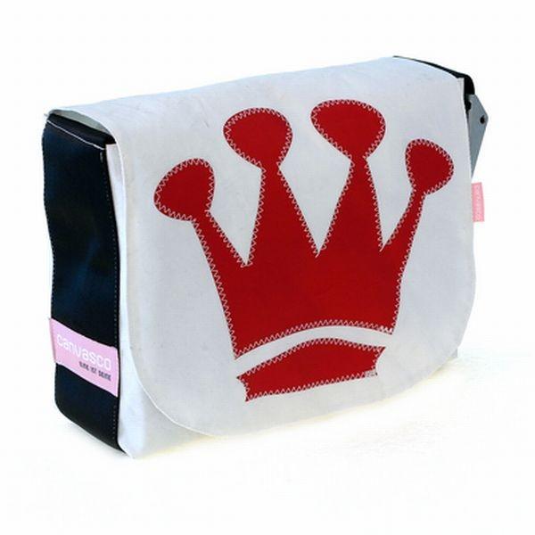 Canvasco Urban Bag Canvas L, red crown