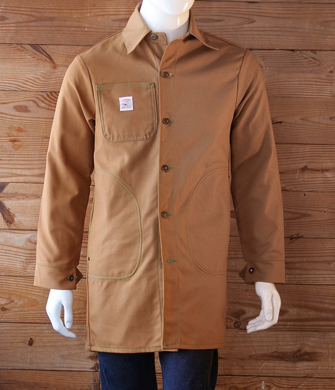Pointer Brand -   Long Jacket with Circle Pockets - Brown Duck, LOT 2046