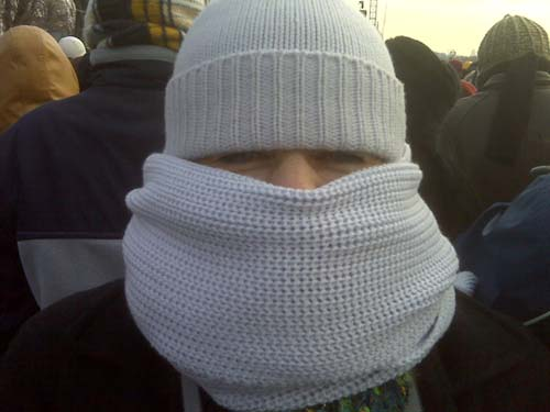 Sartorio Vico knitware kept me warm at the inauguration!